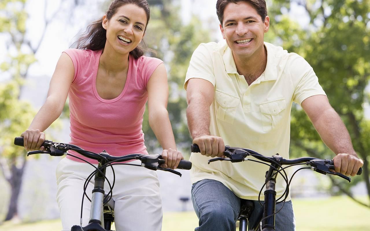 Balade vélo, départ à de l'hôtel de luxe en Picardie